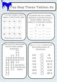 8x Table Activity Sheet Higher Order Thinking Skills