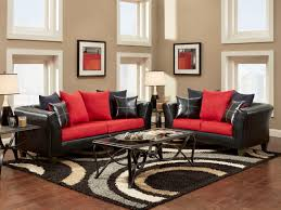 Red And Grey Decorating Black Furniture Deco Ideas Living Rooms Room Design Red Gray