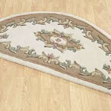 extraordinary half moon rugs royal aubusson in cream beige free uk delivery