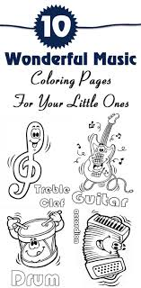 10 Wonderful Music Coloring Pages For