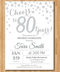 80th Birthday Invitations Templates Free Magdalene Project Org