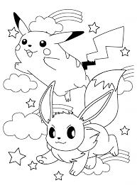 Pokemon Paradijs Kleurplaat Pikachu En Eevee Pertaining To Eevee
