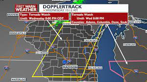 Tornado Watch issued for Wisconsin ...