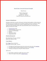 Sales Associate Resume Skills Letter Format Template Retail