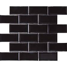 midnight black bevel 11 22 in x 11 47 in x 6mm glazed