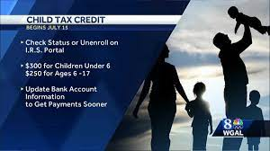 CHILD TAX CREDIT payments go out on ...