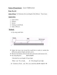 Wavelength Of Laser Light Formula Calculate The Wavelength Of Laser Light