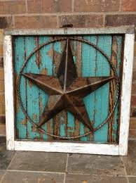 Antique Windows Salvaged Antique Window Frame With Texas Star Old Wood Decor