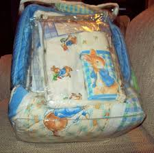 bnwot 10 pc country time beatrix potter peter rabbit crib bedding set