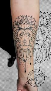 Geometrická Tetování Marťa Tattoo Studio