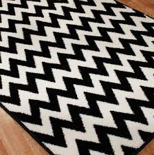 large black and white rug