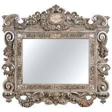 wood wall mirrors. Wall Mirrors: Baroque Mirror Century Grand Style Carved Frame For Sale Wood Mirrors T