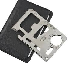 Self defense wallet comb a tiny device that can fit in any wallet and undetectable easy by the bad guys, this will enable you to create a good opportunity to response or escape. Self Defense Supplies Multi Tools 11 In 1 Multifunction Outdoor Survival Camping Pocket Military Credit Card Knife Silver
