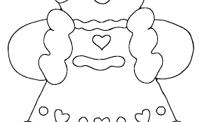 Gingerbread Man Story Coloring Pages Of Characters Color Page Pa