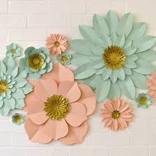 Paper Flower Decor Handmade Glitter Centre Paper Flower Wall Display By May Contain