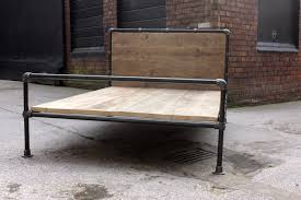 industrial reclaimed furniture. modren furniture amy dark steel pipe and reclaimed industrial scaffolding board double bed  frame bespoke furniture with
