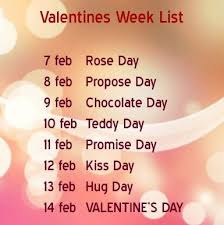 7 days before valentines day rose day