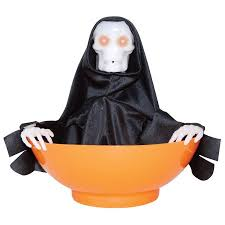 animated halloween candy bowl. Beautiful Halloween Animated Talking Reaper Trick Or Treat Candy Bowl Funny Halloween Prop Decor With E