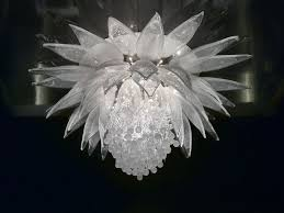 crystal ceiling lamp lotus flower by lasvit