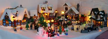 Lego Winter Village Lights Winter Village With Lights This Is Lovely Someday I Want