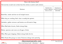 when is a comma used how is the comma used ks2 spag test practice classroom secrets