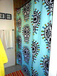 Skull Bedroom Curtains Comfortable Shower Curtains All N Lacey Shower Curtain In Unique
