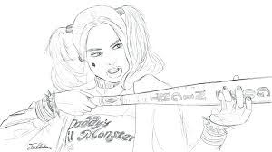 harley quinn coloring book also squad coloring pages printable harley quinn colouring book 244