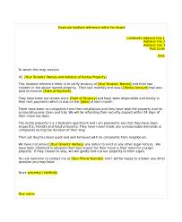 Landlord Reference Letters Adorable Reference Letter From Landlord Template Gdyinglun