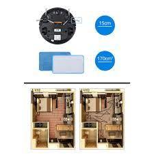 RE0483 Robot hút bụi lau nhà Midea có điều khiển - Robot hút bụi Midea R1 -  Máy lau nhà - Máy hút bụi.