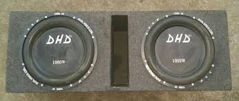 speakers in box. 1000watt dhd 12inch subwoofers speakers in box
