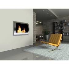 anywhere fireplace chelsea 28 in wall mount vent free ethanol fireplace in stainless