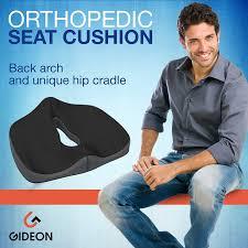 gideon premium orthopedic seat cushion for office chair back pain car truck plane wheelchairs etc provides