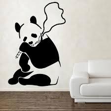 banksy panda smoking weed wall art zoom on panda wall art uk with banksy panda smoking weed wall art shop