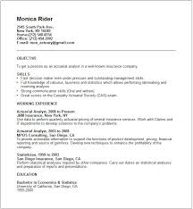 Gallery Of Actuarial Analyst Resume Example Free Templates