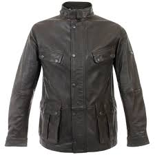 barbour leather vintage international jacket brown