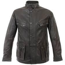 barbour leather vintage international jacket brown