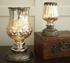 antique mercury glass.  Glass Serena Antique Mercury Glass Hurricane Lamps  Pottery Barn Link On  Pinterest View Full Size On P