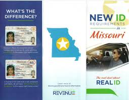 Status Airport Of Columbia And Real Missouri Act; Card Id Regional Drivers License