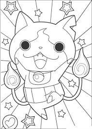 O gato jibanyan e o fantasma whisper. Kids N Fun Com 30 Coloring Pages Of Youkai