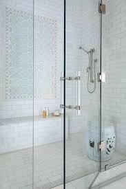shower door handles 125mm polished nickel handle design ideas glass blue geometric accent tiles