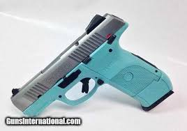 diamond blue ruger sr9c 9mm hand with stainless steel slide 1 of 1