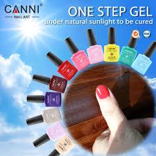 51263 CANNI Nail Art Gel New 2016 No Need Base Coat Top Coat uv ...