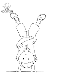Caillou Coloring Pages Handstand Get Coloring Page