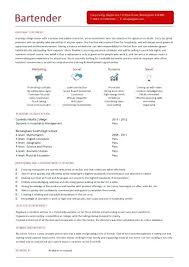 Example Of Bartender Resume Inspiration Bartending Resume Template Bartender Resume Template Australia
