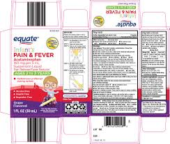 Equate Pain And Fever Infants Suspension Wal Mart Stores Inc