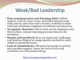 on characteristics of a good leader essay on characteristics of a good leader