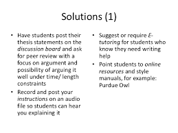 student writing problems faculty challenges solutions