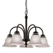 project source fallsbrook 5 light dark oil rubbed bronze chandelier