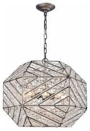 elk lighting 11837 8 constructs 8 light crystal chandelier weathered zinc