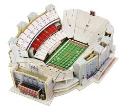 Huskers Memorial Stadium Detailed 3d Puzzle